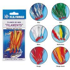Lines Flashmer TRAIN DE PLUMES MER FILAMENT 10 LIGNES DE 3 HAMEÇONS COULEUR ROUGE/JAUNE