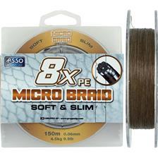 TRECCIA ASSO MICRO BRAID 8X MARONE - 150M