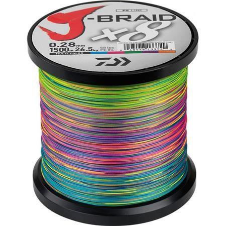 TRECCIA DAIWA J BRAID X 8 MULTICOLORE -1500M
