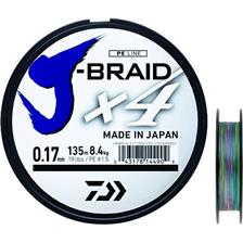 TRECCIA DAIWA J BRAID X4B MULTICOLORE -150M