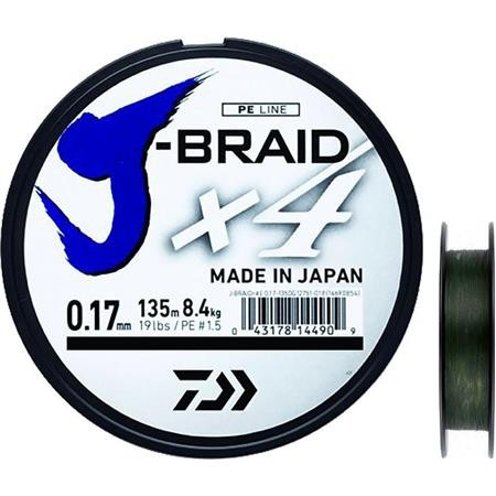 TRECCIA DAIWA J BRAID X4B VERDE -1350M