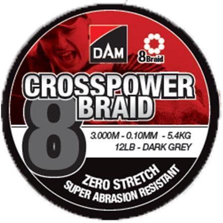 TRECCIA DAM CROSSPOWER 8-BRAID - 3000M