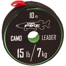 TRECCIA PER TERMINALI MR. PIKE CAMO COATED LEADER MATERIAL - 10M