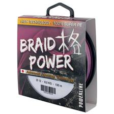 TRECCIA POWERLINE BRAID POWER - MALVA -250M