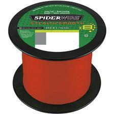 TRECCIA SPIDERWIRE STEALTH SMOOTH 8 MOSS - ROSSO -1800M
