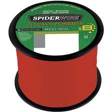 TRENZADO SPIDERWIRE STEALTH SMOOTH 8 - ROJO -3000M