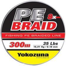 TRENZADO YOKOZUNA 8X PE BRAID GRIS - 300M