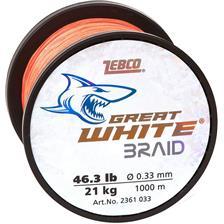 TRENZADO ZEBCO GREAT WHITE - 1000M