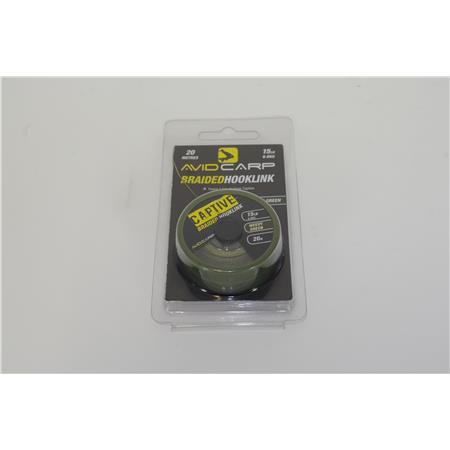 TRESSE A BAS DE LIGNE AVID CARP BRAIDED HOOKLINK - 20M - Weedy Green - 15lbs OCCASION