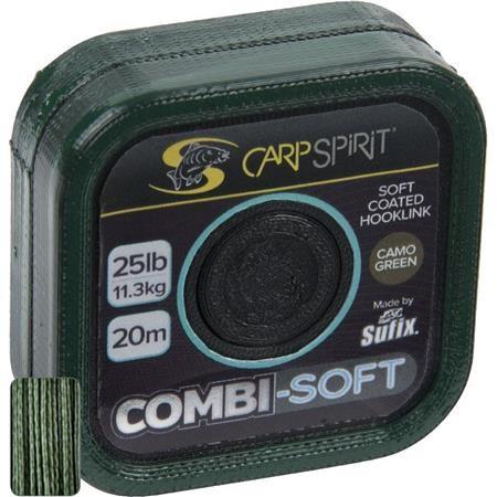 TRESSE A BAS DE LIGNE CARP SPIRIT COMBI SOFT GREEN - 20M