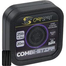 TRESSE A BAS DE LIGNE CARP SPIRIT COMBI STIFF BLACK - 20M