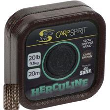 TRESSE A BAS DE LIGNE CARP SPIRIT HERCULINE BROWN - 20M