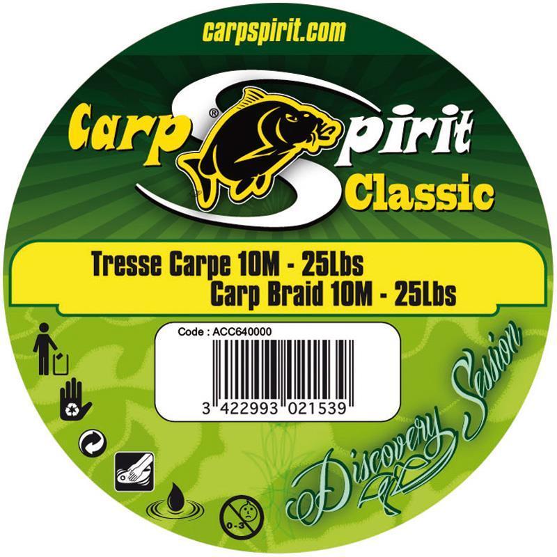 Tresse a bas de ligne carpe carp spirit classic for Achat de carpe