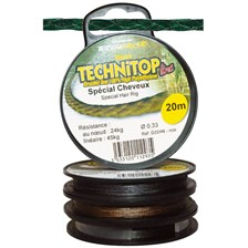 Tying Technipêche TECHNITOP TRESSE A BAS DE LIGNE CHEVEUX TECHNIPECHE KAKI 8KG