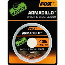 TRESSE A BAS DE LIGNE GAINEE FOX EDGES ARMADILLO CAMO SHOCK & SNAG LEADER - 20M