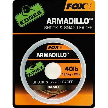 TRESSE A BAS DE LIGNE GAINEE FOX EDGES ARMADILLO CAMO SHOCK & SNAG LEADER - 20M
