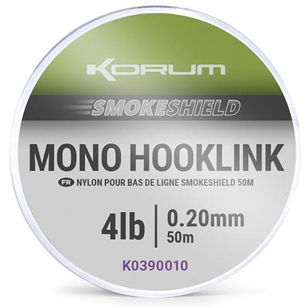 TRESSE À BAS DE LIGNE KORUM SMOKESHIELD MONO HOOKLINK - 50M