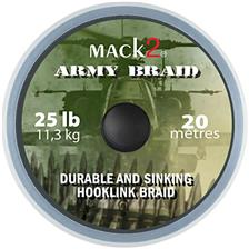 Montage Mack2 ARMY BRAID DURABLE AND SINKING HOOKLINK BRAID 20M 45LBS