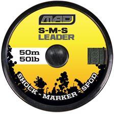 TRESSE A BAS DE LIGNE MAD D-FENDER TITANIUM GRE - 50M - 50lbs