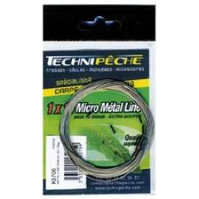 Leaders Technipêche METAL LINE TRESSE A BAS DE LIGNE MICRO CABLE TECHNIPECHE 5M 33/100