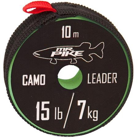 TRESSE A BAS DE LIGNE MR. PIKE CAMO COATED LEADER MATERIAL - 10M