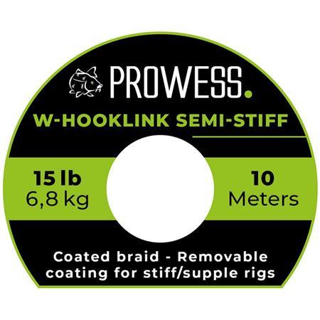 TRESSE A BAS DE LIGNE PROWESS W-HOOKLINK SEMI-STIFF - 10M