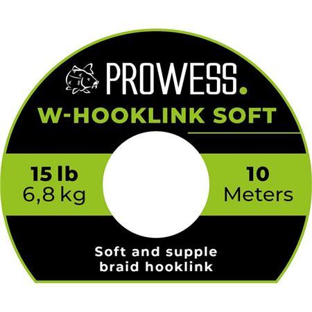 TRESSE A BAS DE LIGNE PROWESS W-HOOKLINK SOFT - 10M