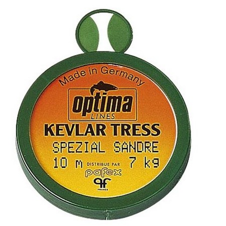 TRESSE A BAS DE LIGNE SANDRE OPTIMA KEVLAR TRESS