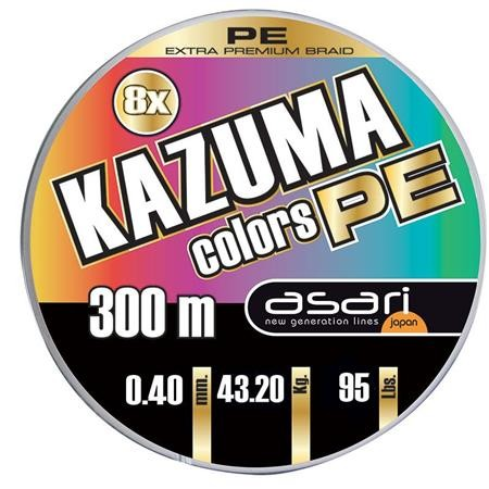 TRESSE ASARI KAZUMA COLORS PE 8X - 300M