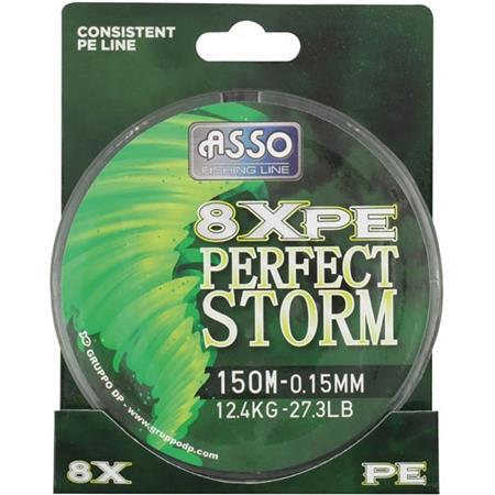 TRESSE ASSO PERFECT STORM 8XPE - VERT - 150M