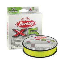 Lines Berkley X5 BRAID FLAME GREEN 150M VERT CLAIR 25/100