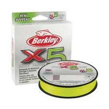 TRESSE BERKLEY X5 BRAID FLAME GREEN - 150M - VERT CLAIR