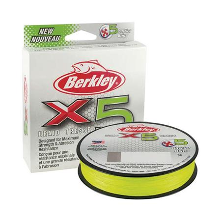 TRESSE BERKLEY X5 BRAID FLAME GREEN - 2000M - VERT CLAIR