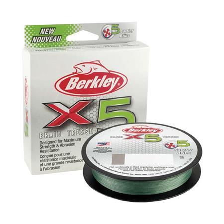 TRESSE BERKLEY X5 BRAID LOW-VIS GREEN - 300M - VERT