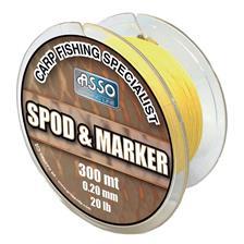 TRESSE CARPE ASSO SPOD MARKER BRAID - 300M - JAUNE