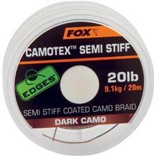 TRESSE CARPE FOX EDGES CAMOTEX SEMI STIFF DARK CAMO - 20M - PAR 3