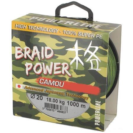 TRESSE CARPE POWERLINE BRAID POWER CAMOU