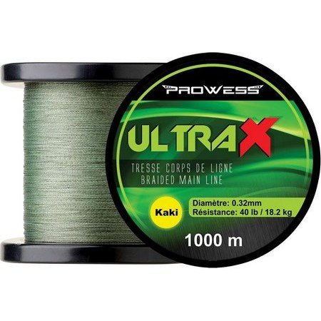 TRESSE CARPE PROWESS ULTRAX - 1000M - KAKI