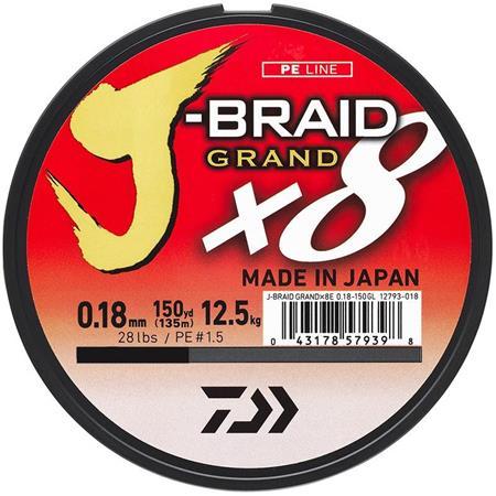TRESSE DAIWA J-BRAID GRAND X8 BLEU - 135M