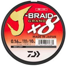TRESSE DAIWA J-BRAID GRAND X8 GRIS - 1350M