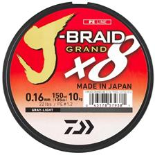 Lines Daiwa J BRAID GRAND X8 GRIS 135M 10/100