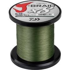 TRESSE DAIWA J BRAID X 8 VERT- 1500M - 35/100