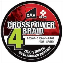 Lines D.A.M CROSSPOWER 4 BRAID 3000M 13/100
