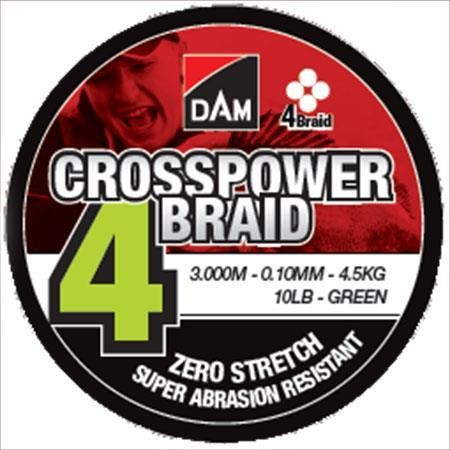 TRESSE DAM CROSSPOWER 4-BRAID - 3000M