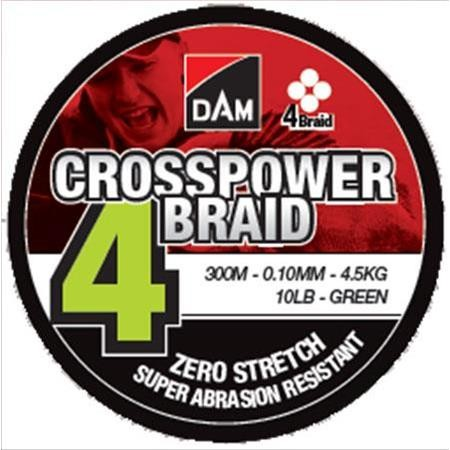 TRESSE DAM CROSSPOWER 4-BRAID - 300M