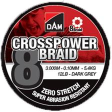TRESSE DAM CROSSPOWER 8-BRAID - 3000M
