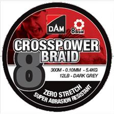 TRESSE DAM CROSSPOWER 8-BRAID - 300M