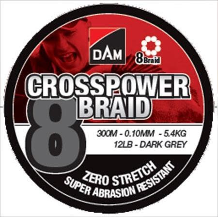 TRESSE DAM CROSSPOWER 8-BRAID - 300M