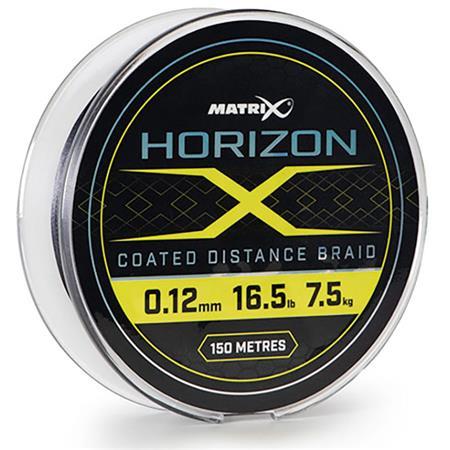 TRESSE FOX MATRIX HORIZON X COATED BRAID - 150M