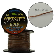 Tying Kryston TRESSE GAINEE QUICK SILVER GOLD QUICK SILVER GOLD 25 LBS